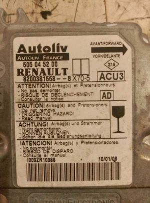CENTRALITA AIRBAG RENAULT MASTER II PHASE 2 COMBI 2003 - 2011